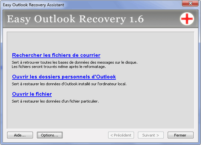Easy mail recovery 11 screenshot